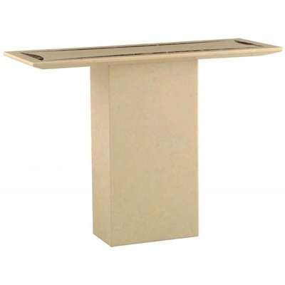 Vishnu Natural Marble Console Table With Lacquer Finish