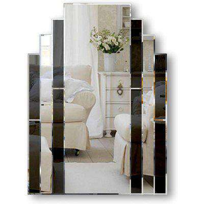 Classic Black Art Deco Over Mantle Wall Mirror Stock Clearance SOLD