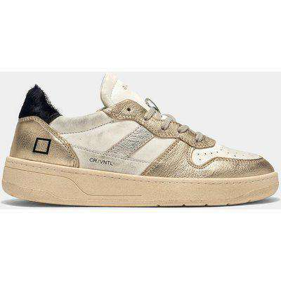 D.A.T.E Court Trainers in vintage Platino 38 R
