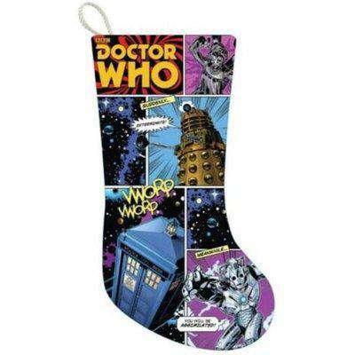 Doctor Who Comic Strip Christmas Stocking