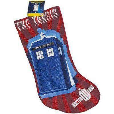 Doctor Who Red TARDIS 11th Doctor Christmas Stocking