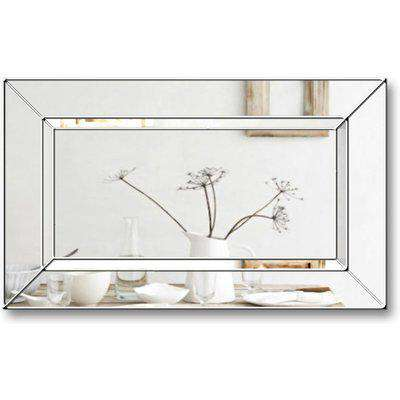 Elegance Original Handcrafted Tray Over Mantle Wall Mirror with Silver Trim