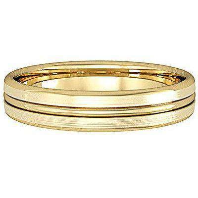 Galio Single Rib Wedding Band 18ct Yellow Gold