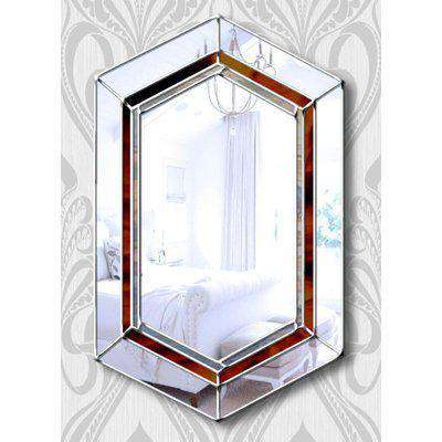 Gigi Original Handcrafted Classic Over Mantle Wall Mirror in Silver