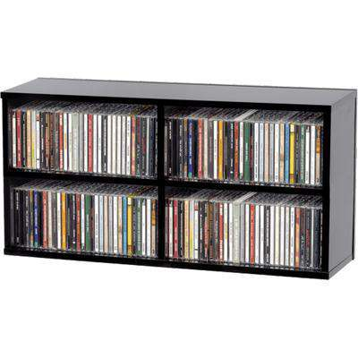 Glorious CD Box 180 (Black) Storage Unit