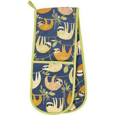 Hanging Around Double Oven Gloves