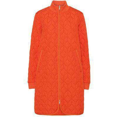 ilse jacobsen padded quilt coat in warm orange S