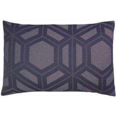 James Silver Grey Geometric Housewife Pillowcase (Pair) - 052282