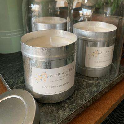 Large Scented Candle in a Tin