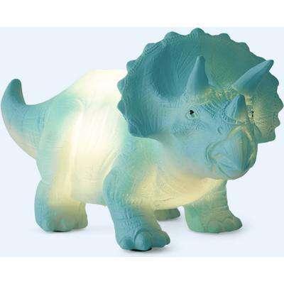 LED Turquoise Triceratops Mini Night Light