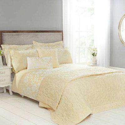 Lottie Lemon Luxury Jacquard Duvet Cover Double