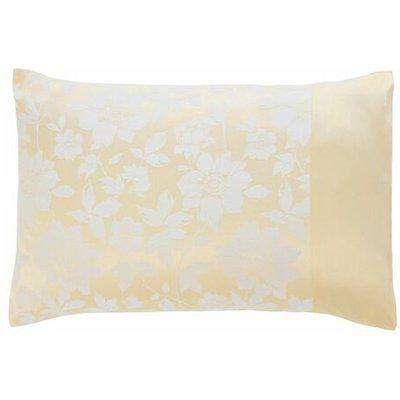 Lottie Lemon Luxury Jacquard Housewife Pillowcase Pair