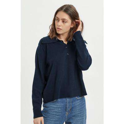My Essential Wardrobe Navy Pullover With Collar UK 12