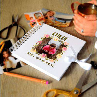 Personalised Floral Wreath Birthday Photo Book