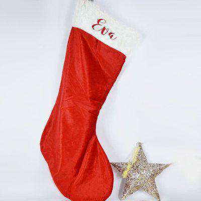 Personalised Giant Plush Embroidered Christmas Stocking