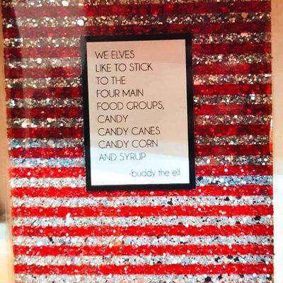 'Pure Fabrication' Glitter Christmas Cards
