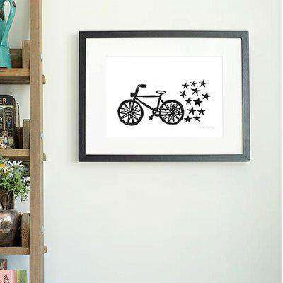 ratty golightly bicycle a4 wall art print OS