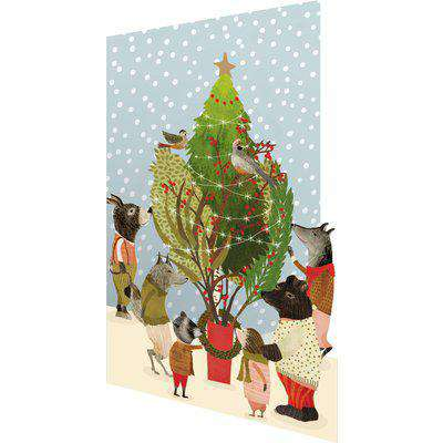Roger la Borde Lasercut Christmas Card - Christmas Procession