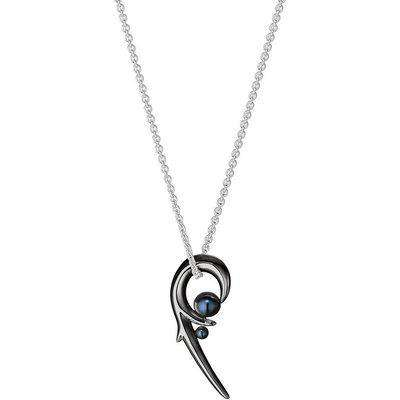Shaun Leane Hooked  Black Pearl Black Rhodium Pendant