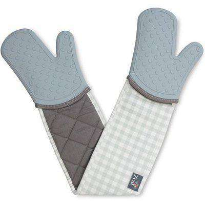 Silicone Double Oven Glove - Duck Egg Blue