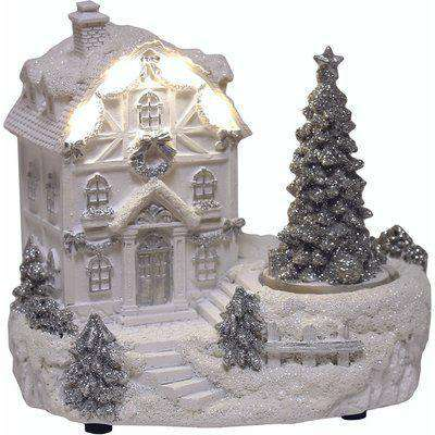 Spinning Christmas tree & house, ornament