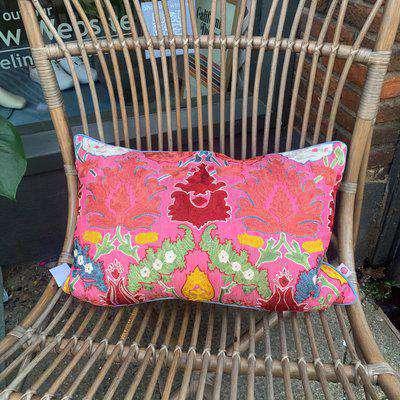 suzani embroidered cushion OS