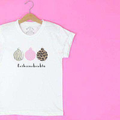 Wholesale Christmas 'Fashionabauble' Kids T Shirt