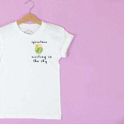 Wholesale Christmas 'Sprout Man' Kids T Shirt