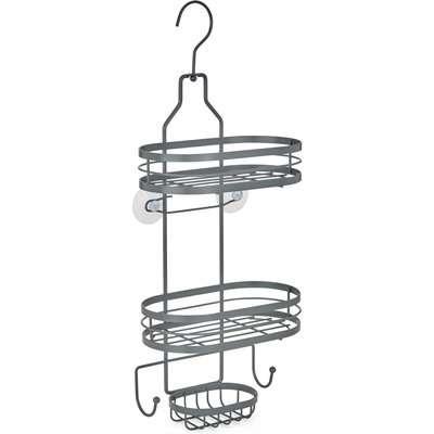 2 Tier Grey Hanging Shower Caddy Grey