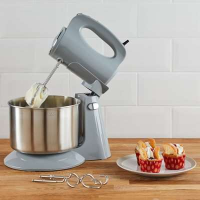 300W Grey Stand Mixer Grey and Silver