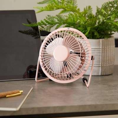 """4"""" Pink USB Desk Fan Pink"""
