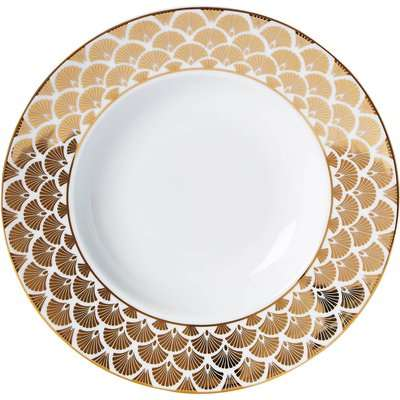 5A Fifth Avenue Bergen Gold Soup Bowl Gold and White