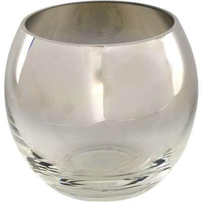 5A Fifth Avenue Silver Glass Tea Light Holder Silver