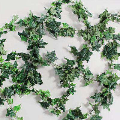 6pk Artificial English Ivy Green Garland 182cm Green