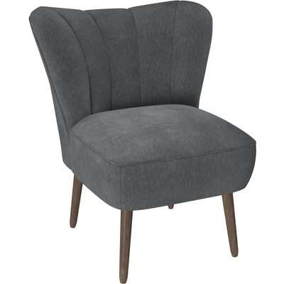 Abby Chenille Cocktail Chair - Charcoal Charcoal