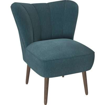 Abby Chenille Cocktail Chair - Emerald Green