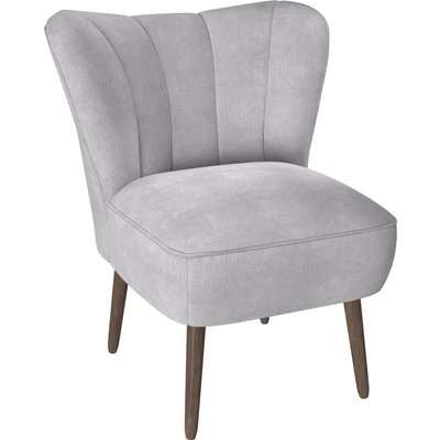 Abby Chenille Cocktail Chair - Silver Silver