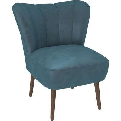 Abby Velvet Cocktail Chair - Pacific Blue