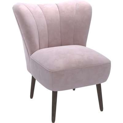 Abby Velvet Cocktail Chair - Pink Pink