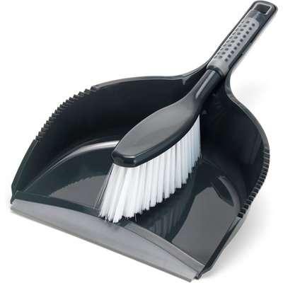 Addis Comfigrip Dustpan And Brush Set grey