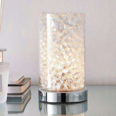 Adela Pad Chrome Touch Dimmable Table Lamp Chrome