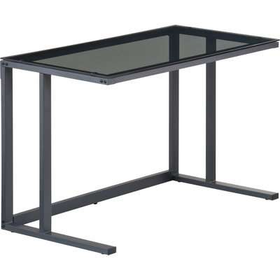 Air Smoked Glass Desk Clear