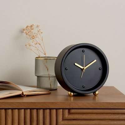Gold Alarm Clock Black