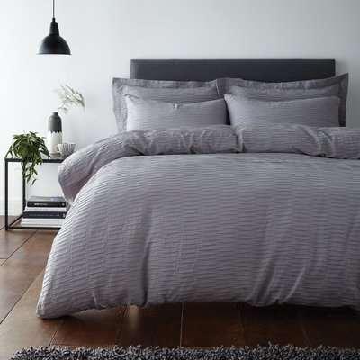 Alissa Grey 100% Cotton Oxford Pillowcase Grey