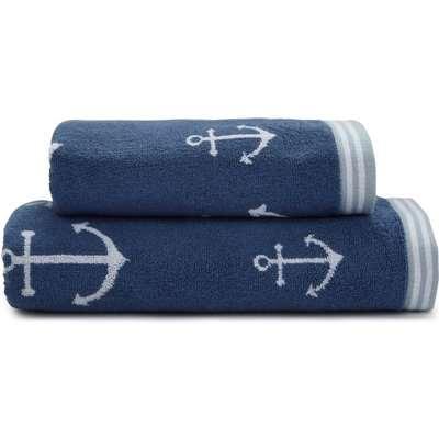 Anchor Blue Bath Towel Blue