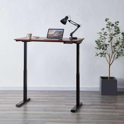 Koble Apollo Walnut Effect Adjustable Standing Smart Desk Brown/Black
