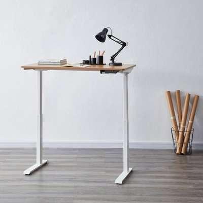 Koble Apollo Oak Effect Adjustable Standing Smart Desk White/Brown
