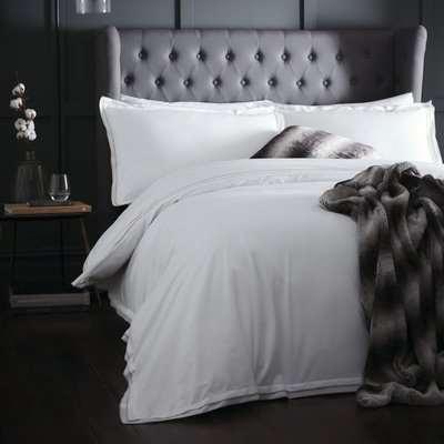 Appletree Alden Linen Duvet Cover and Pillowcase Set White