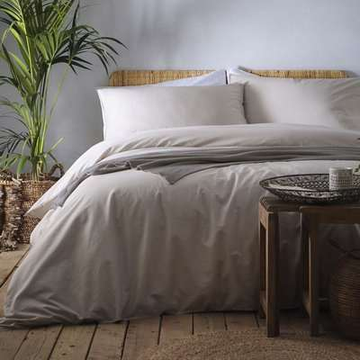 Appletree Cassia Linen 100% Cotton Duvet Cover and Pillowcase Set Grey