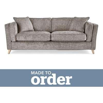 Arabella 3 Seater Sofa Luxury Chenille Premium Chenille Grey